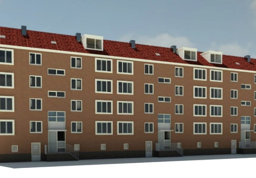 Warmtenetaansluiting voor gerenoveerde Amsterdamse Hemsterhuisflat